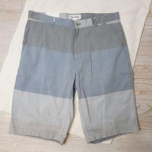 Calvin Klein Flat Front Shorts Color Block